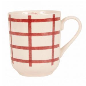 tasse haute campagne comptoir de famille beige et rouge