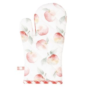 gant au four 18x30 cm idée cadeau maman vichy rouge et pomme