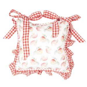 housse de galette de chaise pomme vichy rouge idée cadeau mère