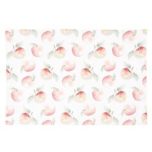 set de table printanier blanc et pommes 48x33 cm