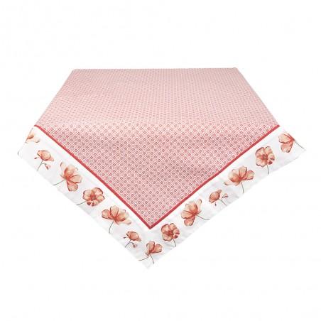 acheter nappe fleurie carrée 100x100 cm