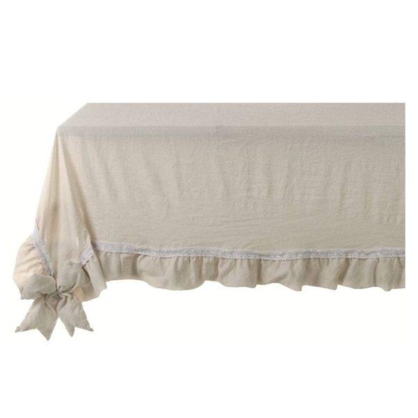 nappe blanc MariClo beige noeud couleur naturelle dentelle style shabby chic romantique
