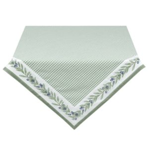 nappe vichy verte olive rectangulaire 150x250 cm