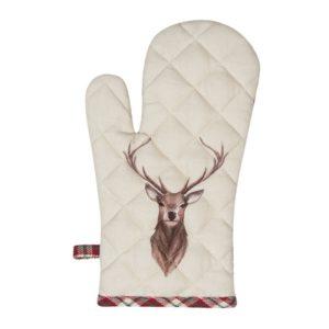 gant au four en coton cerf style chalet clayre en eef