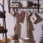 textile de cuisine rustique style chalet hiver cerf