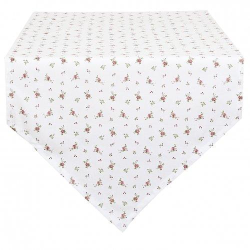 chemin de table en pointe en coton blanc jardin de roses clayre en eef