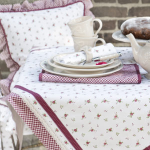 collection textile de table rose Clayre en eef
