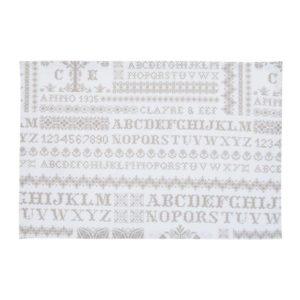 6 sets de table blanc intemporel et moderne lettre alphabet