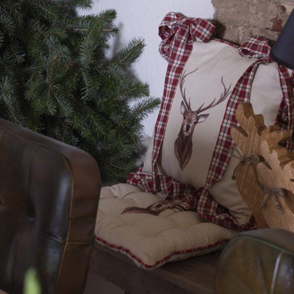 house de galette de chaise cuisine style rustique chalet cerf