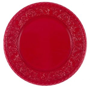 assiette de présentation rouge noël