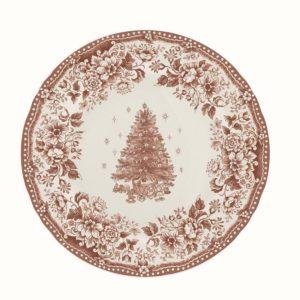 assiette à diner plates noël blanc mariclo cocoon
