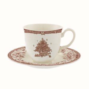 tasse à café de noël blanc et bordeaux blanc mariclo