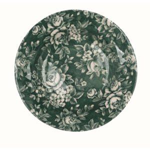 assiette creuse verte en céramique noel blanc mariclo