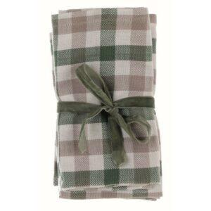 serviette en tissus verte de Noël