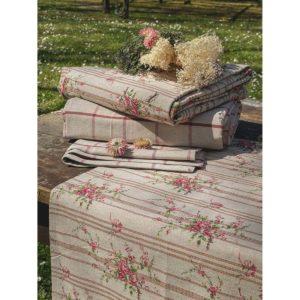 textile de table campagne chic fleurs et carreaux