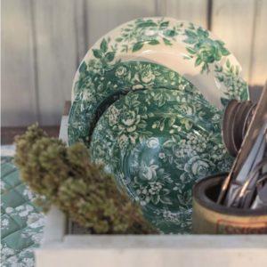 service de table noel vert chic romantique