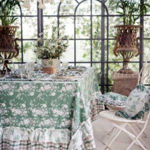 nappe de noel romantique verte