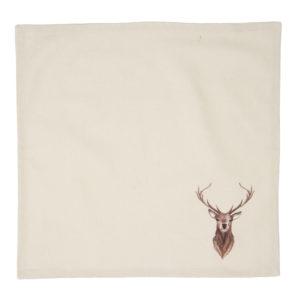 serviette en tissu chalet cerf clayre en eef